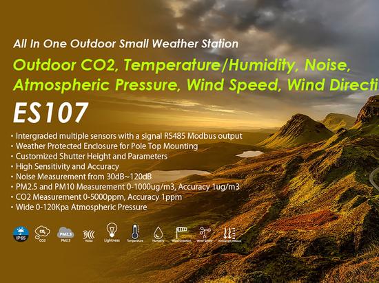 Petite station météorologique pour la surveillance environnementale en temps réel au-dessus des nuages