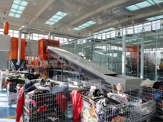 Broyeurs industriels à double arbre pour l'habillement