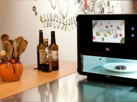 Foodini est un appareil de cuisine en 3D pour l'impression des aliments