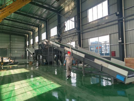 Le broyeur de déchets encombrants de GEP à Huai'an a été accepté officiellement en une seule fois