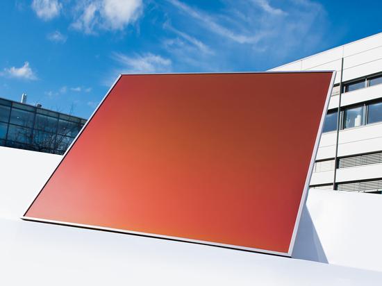Des modules photovoltaïques qui peuvent être produits dans un spectre de couleurs uniques, grâce à une technologie inspirée des ailes de papillons, sont développés par l'Institut Fraunhofer