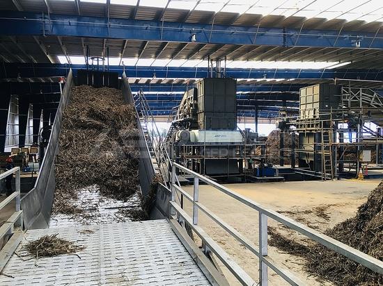 Broyeur à deux arbres à usage intensif pour centrale biomasse aux Philippines