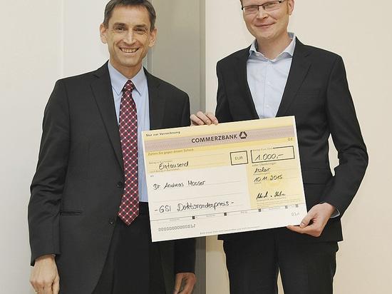 Vide de Pfeiffer Gmbh et récompense doctorale commune actuelle Gmbh de candidat de Schwerionenforschung de für de GSI Helmholtzzentrum