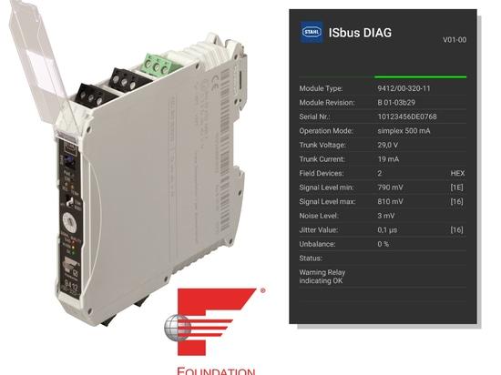 ISbus DIAG $$etAPP prend des diagnostics de FF H1 à votre smartphone