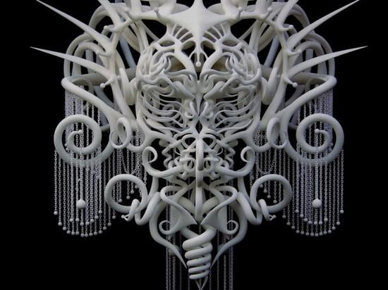 LA TECHNOLOGIE RENCONTRE L'ART EN JOSHUA HARKER ? COIFFE IMPRIMÉE par 3D de S