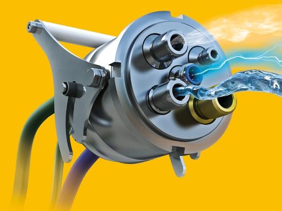 Connecteur multimédia pour les signaux d'air comprimé, de gaz, de liquides, électriques et électroniques