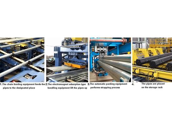 Procédures de emballage automatiques pour des tuyaux d'acier et des tubes