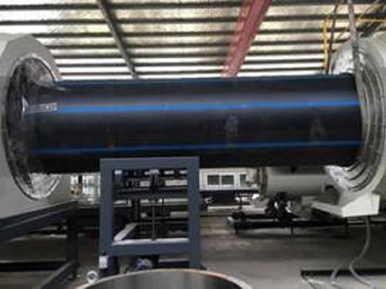 PE1600 ligne essai de finition dans l'atelier de client dans Shangdong, Chine