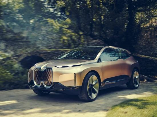 L'iNEXT Concept Car de la vision de BMW comporte un 3D bourré de capteurs a imprimé le gril