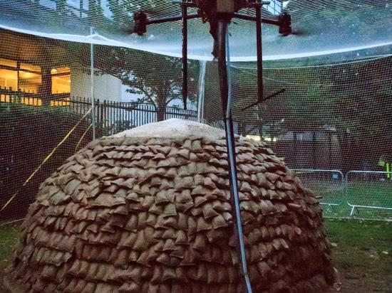 les bourdons de Boue-pulvérisation établissent le prototype pour des maisons de secours