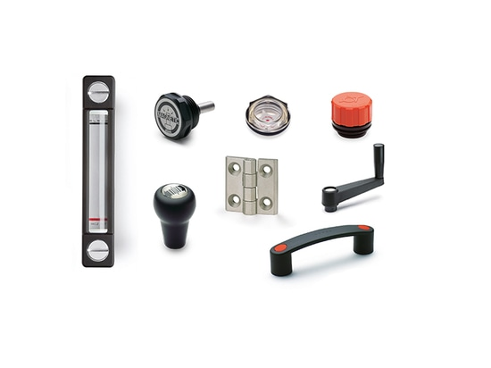 ELESA components for construction vehicles, equipment and machinery