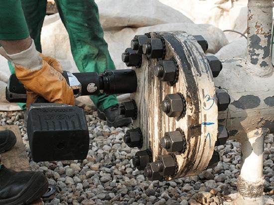 Arme à feu de couple de série du lithium de HYTORC pour les travaux de boulonnage les plus durs