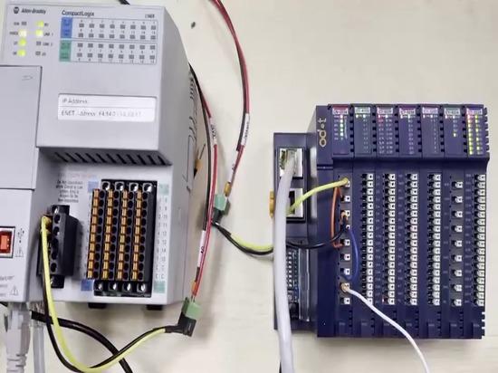 Test de l'adaptateur ODOT CN-8034 EtherNET/IP avec AB PLC