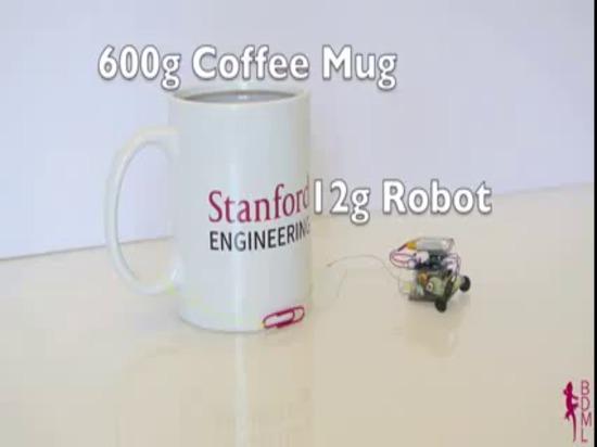 µTug : Le robot micro tire 2000 fois son poids sur le verre