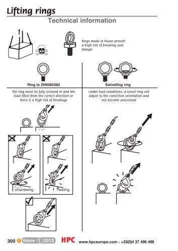 Hoist ring, type:rotating, safety coefficient:4, base rotates through:360°