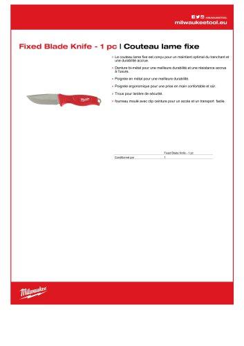 Couteau lame fixe