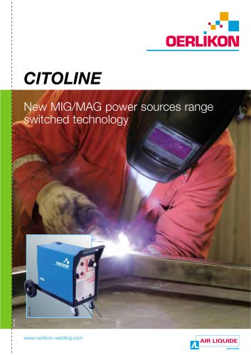 CITOLINE New MIG/MAG power sources range switched technology