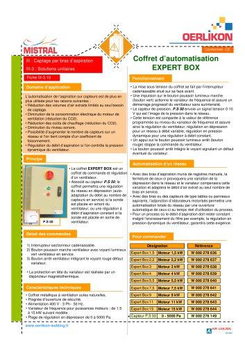 Coffret d'automatisation EXPERT BOX