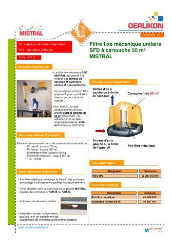 Filtre fixe mécanique unitaire SFD à cart