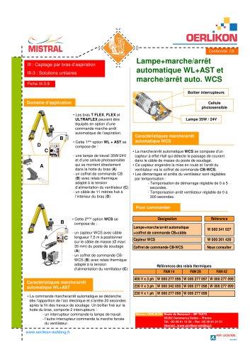 Lampe+ marche/arrêt auto WL+AST et marche