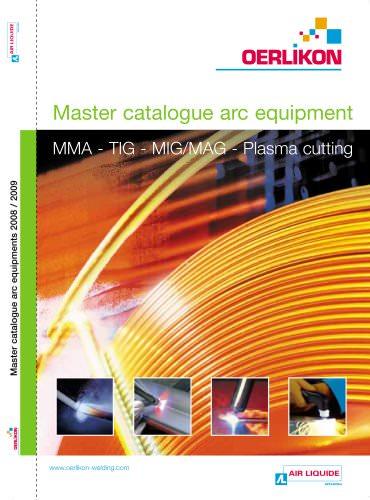 Master catalogue arc equipment MMA - TIG - MIG/MAG - Plasma cutting Master