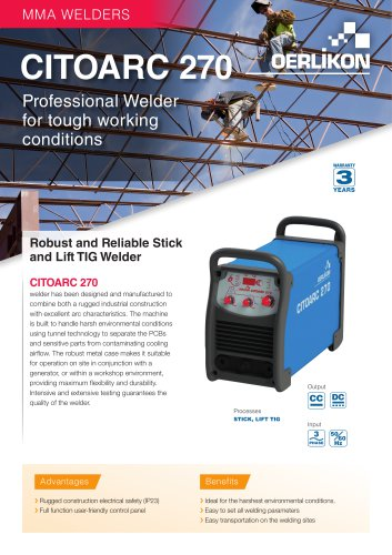 MMA welder CITOARC 270 PDF