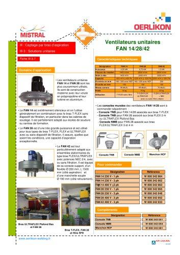 Ventilateurs unitaires FAN 14 28 42