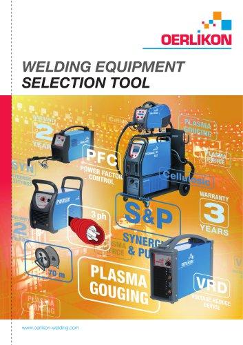 welding equipment selection tool