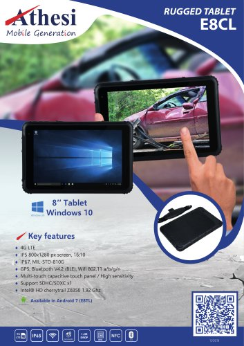 E8CL Rugged tablet 8""
