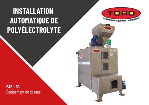 Station Automatique pour la Préparation de Polyélectrolyte PAP-3C
