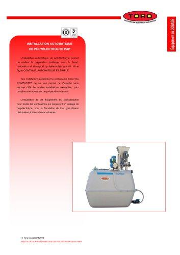 Station de préparation de polyélectrolyte