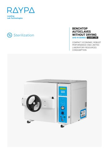 BENCHTOP AUTOCLAVES WITHOUT DRYING - AHS-N SERIES
