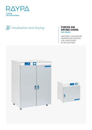 FORCED AIR DRYING OVENS - DAF SERIES