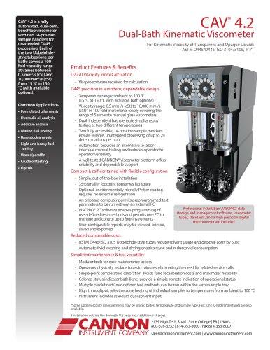 CAV® 4.2 Dual-Bath Kinematic Viscometer