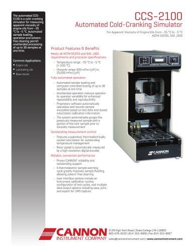 CCS-2100 Automated Cold-Cranking Simulator