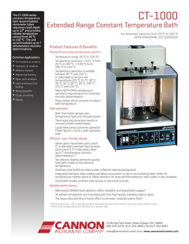 CT-1000 Extended Range Constant Temperature Bath