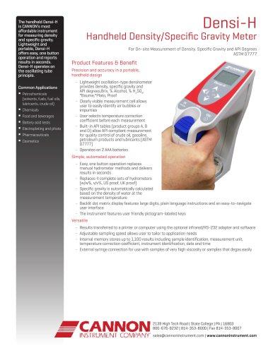 Densi-H Handheld Density/Specific Gravity Meter