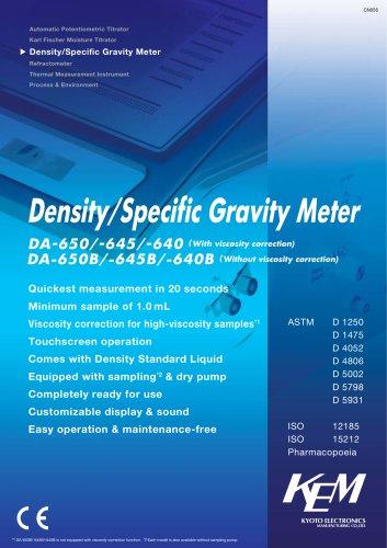 Density/Specific Gravity Meter