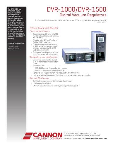 DVR-1000/DVR-1500 Digital Vacuum Regulators