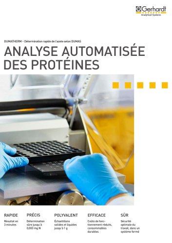 DUMATHERM® - Analyse automatisée des protéines