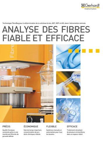 FIBRETHERM® - Analyse des fibres fiable et efficace