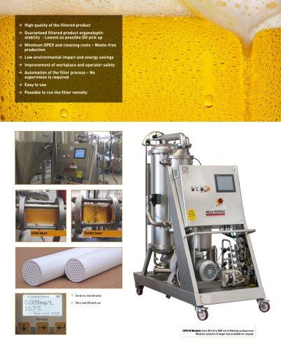 Crossflow filters for beer