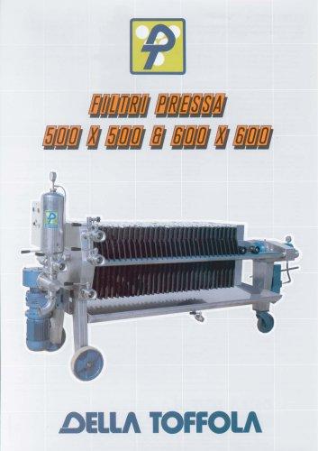 Filtre Presse 500x500 & 600x600