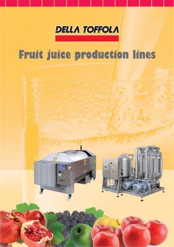 Fruit juice production lines