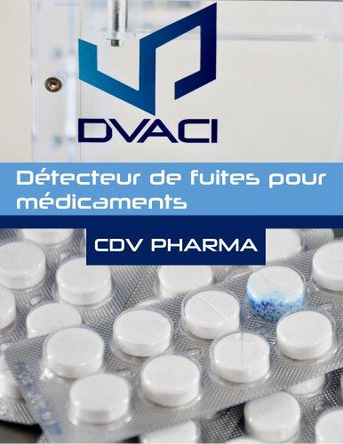 CDV PHARMA Détecteur de Fuites pour Médicaments Blister