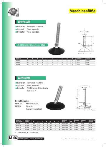 machine footing, base plate polyamide