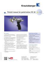 Pistolet manuel de pulvérisation HS 30
