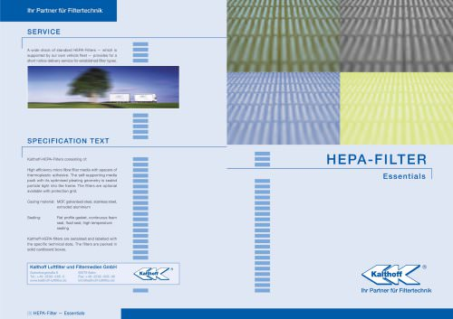 HEPA-Filter booklet