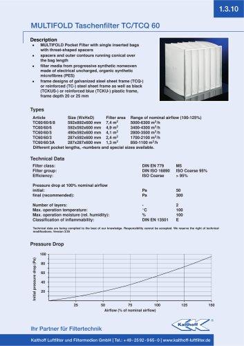 MULTIFOLD Taschenfilter TC/TCQ 60