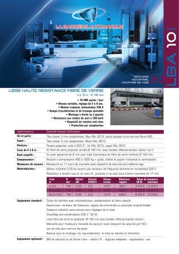 LBA 10 (lisse haute resistance fibre de verre 4 à 10 m - Ø 140 mm)